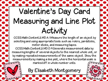 Valentine's Day Measuring and Line Plot Activity