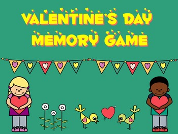 Valentine's Day Memory Card Game PPT - Whole Class Activity