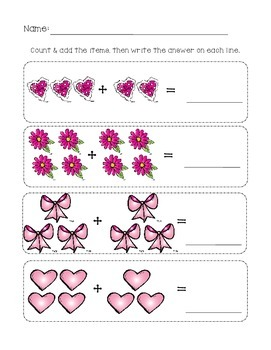 Valentine's Day Mini Math & Literacy Activity Packet