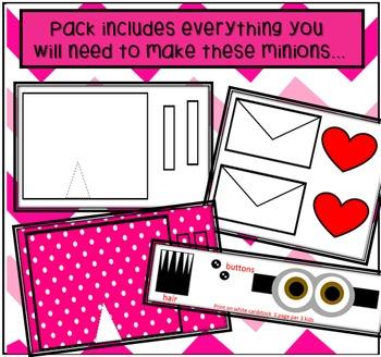Valentines Day Minion Art Activity- Print and Make