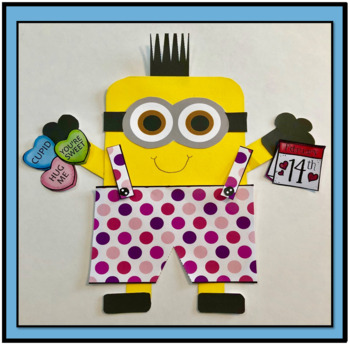 Valentines Day Minion Art Project- Print and Make Activity