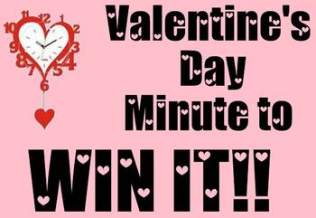 Valentine's Day Minute to Win It SMARTBoard Lesson
