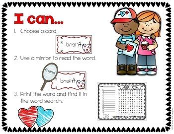 Valentine's Day - Mirror Words