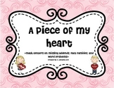 Valentine's Day Missing Addend, Fact Families, and Word Problems