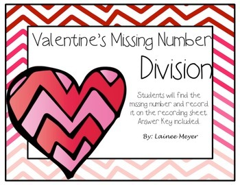 Valentine's Day Missing Number Division