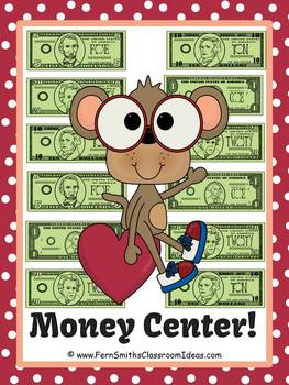 St Valentine's Day Money (Bills) Center Games and Printables