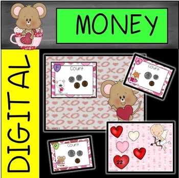 DIGITAL and PAPER Valentine's Day Money Task Cards