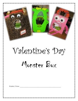 Valentine's Day Monster Box Project