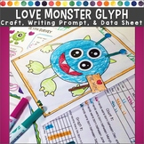 Valentines Day Monster Glyph with Survey, Craft, Data Shee