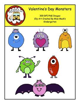 Valentine's Day Monsters Clip Art