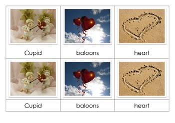 Valentine's Day - Montessori Nomenclature Cards