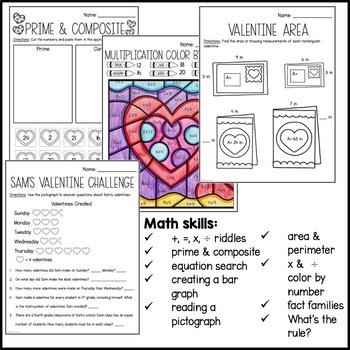 My Valentine's Day Math Packet