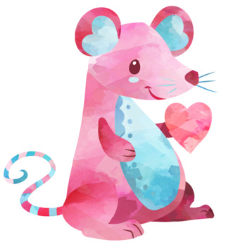 Valentines Day Mouse Clipart
