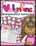 Valentine's Day Multiplication Game, Bingo, Worksheets (Facts 0-12)