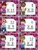 Valentine's Day Multiplication Game, Bingo, Worksheets (Fa
