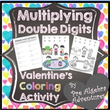 Valentines Day Multiplication Coloring Page  {Color by Num
