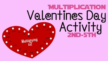 Valentines Day Multiplication Game (Self Checking)