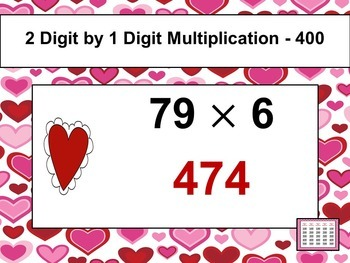 Valentine's Day Game - Multiplication