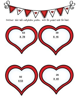 Valentine's Day Multiplication Madness