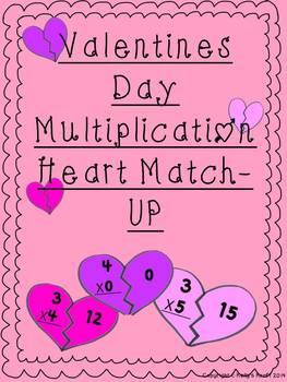 Valentine's Day Multiplication Match-Up