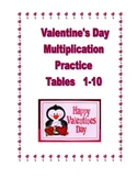 Valentine's Day Multiplication Practice Tables 1-10  Worksheets & Activities
