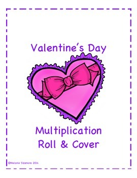 Valentine's Day Multiplication Roll and Cover