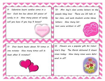 Valentine's Day Multiplication Scoot