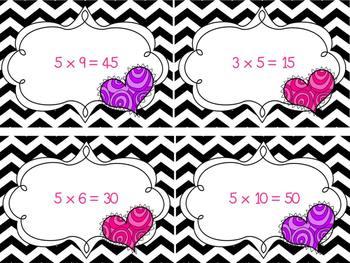 Valentine's Day Multiplication Sort