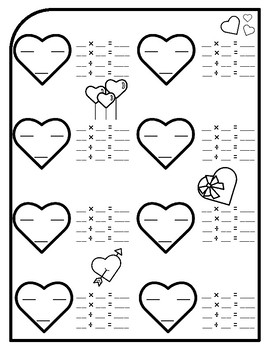 Valentines Day Fact Family Math Valentines Day Fact Families Multiply and Divide