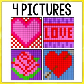 Mystery Pictures Valentine's Day - Multiplication and Division Facts