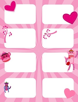 Valentine's Day Multiplication facts (4 - 7)  Concentration & War Card Games