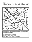 Valentine's Day Multiply and Color Activity