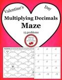 Free Download Valentine's Day Math Multiplying Decimals Holiday Math Maze