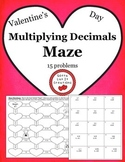 Free Download Valentine's Day Multiplying Decimals