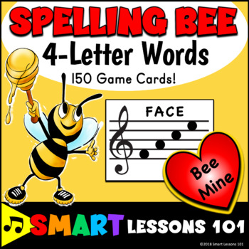 Valentines Day Music: 4 Letter Treble Clef Note Name