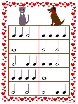 Valentine's Day Music Game Bundle: 4 no prep games!