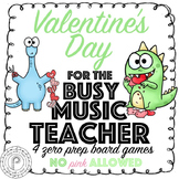 Valentine's Day Music Game Bundle: no pink allowed!