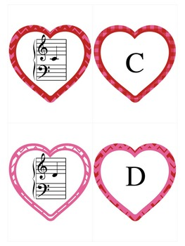 Valentine's Day Music Game: Grand Staff Hearts