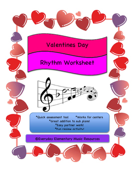 February Valentine's Day Music Match - Number of rests in each beat!