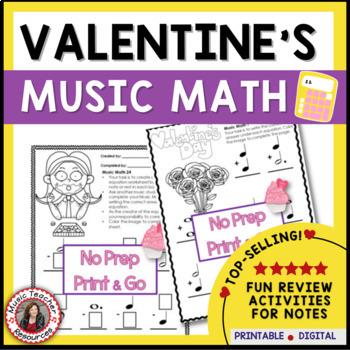 Valentine's Day Music Math