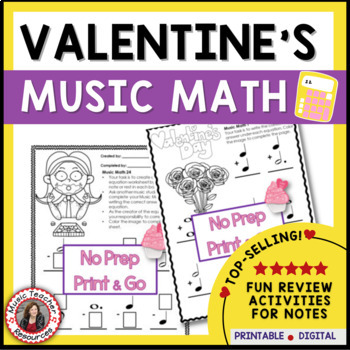 Valentine's Day Music Activities: Music Math