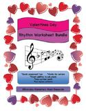 February Valentine's Day Music Rhythm & Rest Matching Work