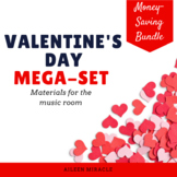 Valentine's Day Music Songs, Games, and Activities Mega-Set