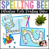 Valentine's Day Music Spelling Bee Activity Center {Color