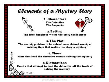 Valentine's Day Mystery Story Writing Resource Package