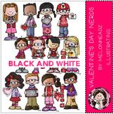Valentine's Day Nerds by Melonheadz BLACK AND WHITE