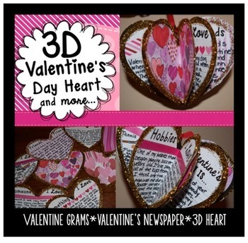 Valentine's Day Informational Passage and 3D Project