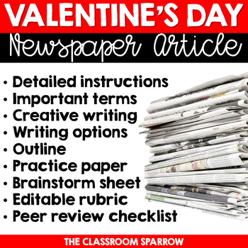 Valentine's Day Newspaper Article (writing options, templa