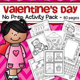 Valentine's Day Printable Activities No Prep for Preschool and Pre-K