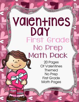 Valentines Day No Prep First Grade Math